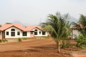a few of the dorms for the women and children, surrounded by the beautiful mountains
